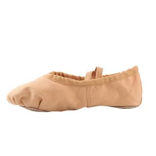 情妮娇 儿童舞蹈鞋 女软底练功鞋瑜伽鞋猫爪鞋形体跳舞鞋芭蕾舞鞋成人04款驼色35码