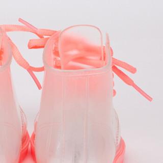 kk树 kocotree儿童雨鞋男童学生四季通用防滑透明女童雨靴 KQ18037 粉色 28码