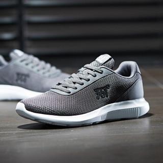 361° 男鞋 跑步鞋轻便减震透气运动鞋 671832270-1 烟灰/361度白 42