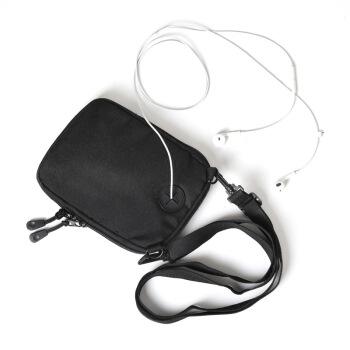sisea 腰包男韩版帆布迷你证件护照手机包单肩斜挎小挂包潮流男士小包 765 黑色