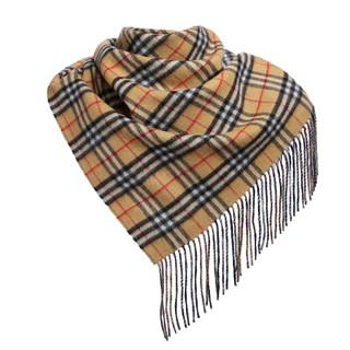 BURBERRY 博柏利 男女通用款Vintage系列羊绒格纹班丹纳三角形围巾 40688721