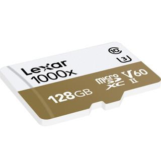 雷克沙(Lexar)128GB 读150MB/s 写90MB/s TF卡 Micro SDXC UHS-II U3 V60 高速存储卡(1000x MLC颗粒)