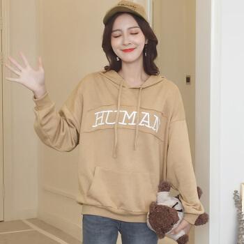 LAXJOY 朗悦 新款韩版连帽T恤宽松套头上衣 LWWY187517