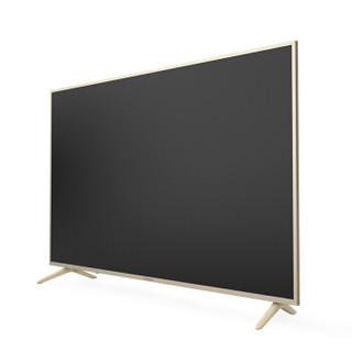 长虹 55DP200 55英寸32核人工智能4K超高清HDR金属轻薄语音平板LED液晶电视机(浅金色)