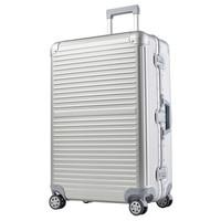 CONWOOD 康沃 行李箱 28英寸铝镁合金万向轮拉杆箱 男女铝框箱托运旅行箱 CTA001 银色