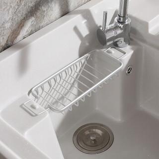 希箭(HOROW)不锈钢洗衣机柜台盆组合套装落地式浴室阳台洗衣柜 象牙白120cm【左右盆可选,默认发右盆】