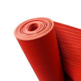爱柯部落 耐高压5000V-10000V 绝缘垫 橡胶垫 配电房用绝缘 耐磨 耐压 防滑 红色 1m*5m*5mm