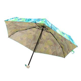 玛丽亚.古琦(MARJA KURKI)五折伞 超轻迷你口袋系列晴雨手动遮阳伞女 欢乐花园太阳伞 9U255753W 绿