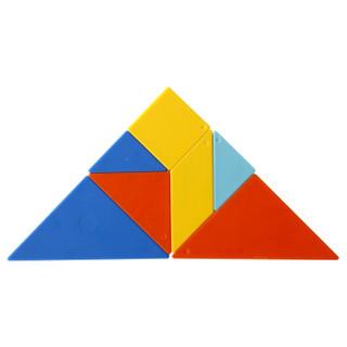 得力(deli)大号儿童经典七巧板早教益智玩具创艺几何认知智力拼图74506