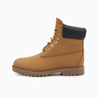 InteRight 男工装牛皮靴 大黄靴沙漠靴 男鞋皮鞋休闲鞋男靴 麦黄色 43