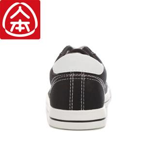 人本 经典帆布鞋女舒适平底学生低帮情侣 rb310182019 黑色 39