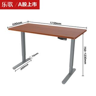 乐歌(Loctek)站立式办公电动升降电脑桌学习桌现代简约家用写字书桌办公桌显示器工作台 E1/1.2m胡桃木色