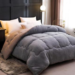 南极人NanJiren 被芯 仿羊羔绒冬被 秋冬被子加厚棉被单人学生被褥 5斤 1.5*2m