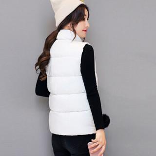 LAXJOY 朗悦 新款棉服韩版棉衣女学生棉马甲短款无袖棉袄保暖背心 LWMJ188308