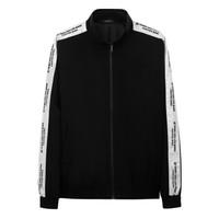 CABBEEN 卡宾 男装黑色宽松夹克衫春季时尚青春个性青年防风外套H 3181138511