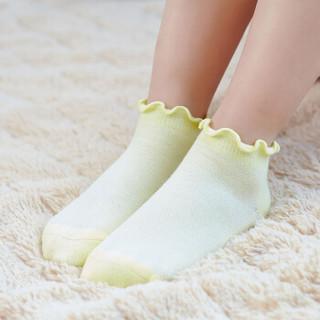 小米生态链企业旗下品牌 稚行竹纤维儿童袜子三双装 柔软舒适 透气排汗 女童短袜三双装L