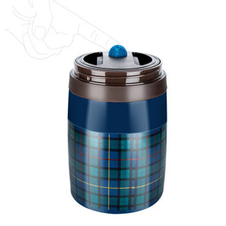 SKATER 433054 304不锈钢保温杯 750ml 蓝色
