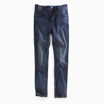 InteRight 牛仔裤男春夏经典直筒 弹力舒适牛仔裤 牛仔裤