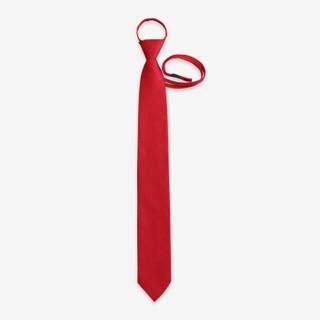 朗悦 正装领带结婚新郎红色领带婚礼婚庆领带男士通勤简易拉绳懒人领带礼盒装LPLD188103 红色 48*7CM