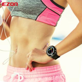 宜准(EZON) 智能户外运动手表时尚彩屏多功能动态光心率防水跑步马拉松计步GPS定位表 E2A14