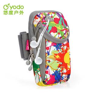 悠度 YODO 跑步手机臂包臂带运动臂套 华为苹果6phone7plus男女款手腕包臂袋