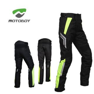 MOTOBOY摩托车骑行裤子防摔防水四季保暖反光赛车机车裤 P03 黄色L