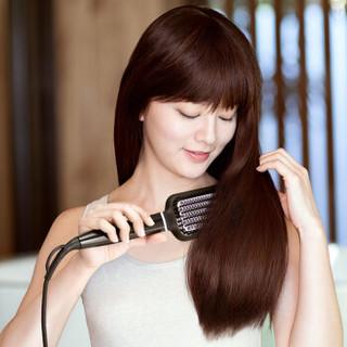 飞利浦(PHILIPS)卷发棒 直发器 直发梳造型梳按摩梳 卷直两用 美发直发梳 粗硬发质 细软发质 BHH880/05