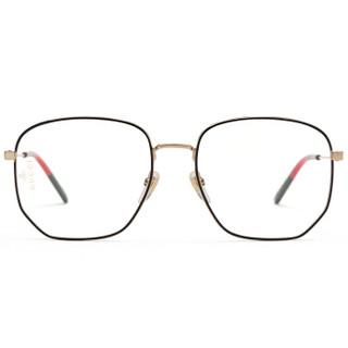 GUCCI 古驰 eyewear 女款光学镜架 金属光学镜架 GG0396O-001 金色镜框 56mm