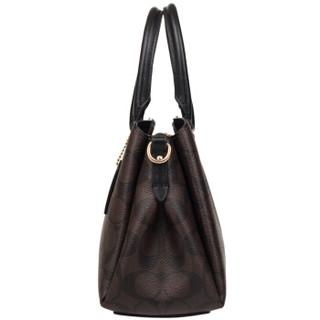 COACH 蔻驰 奢侈品 PVC女士手提肩背斜挎包戴妃包 F29434 IMAA8深棕色