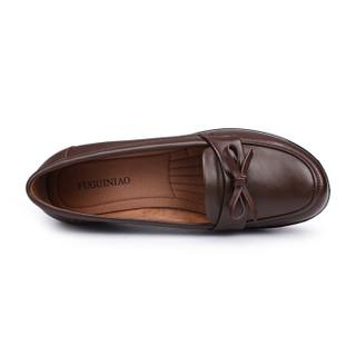 Fuguiniao 富贵鸟 休闲妈妈鞋女单软底老人舒适M494708C 棕色 39