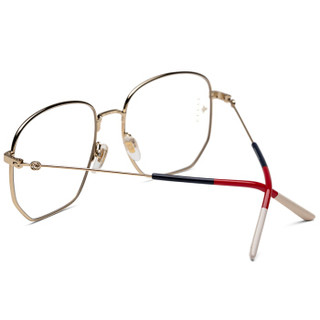 GUCCI 古驰 eyewear 女款光学镜架 金属光学镜架 GG0396O-002 金色镜框 56mm