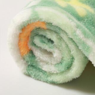 米乐鱼 婴幼儿盖毯宝宝午休毛毯 秋冬法兰绒双层毯被沐青林100*120cm