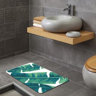 墨斗鱼 硅藻土地垫60x39cm芭蕉叶8632硅藻泥脚垫创意天然吸水速干硅藻土地垫洗澡间浴室门口防滑垫子