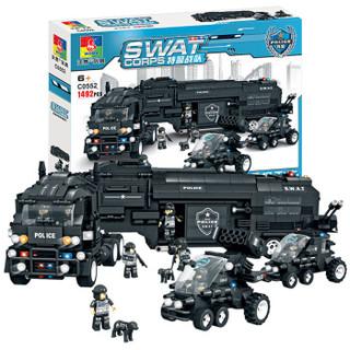 沃马(WOMA)拼装积木组装玩具军事系列男孩 4-14岁 C0552 捍卫者作战指挥车