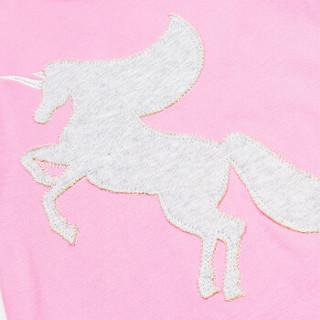 唯路易vivlul儿童内衣套 棉 儿童家居服套装男女童睡衣套 中大童上下棉毛套 A119027 玫红 140