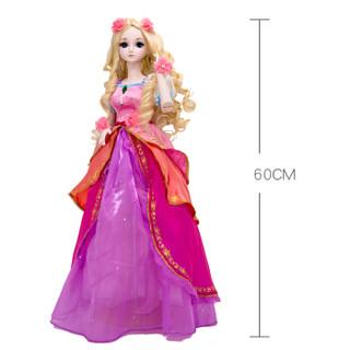 叶罗丽娃娃女孩儿童玩具芭比娃娃夜萝莉仙子DIY仿真洋娃娃精灵梦卡通套装礼盒改装换装玩具 灵公主60CM