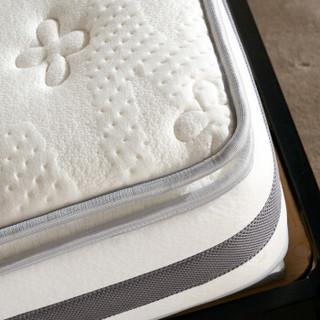 全友家居  白色三明治布料 双人床垫 乳胶垫 两面双用 105110 1.8米