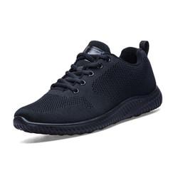 双星 跑步鞋休闲男鞋舒适运动鞋 9208-2 玉石黑-男 42
