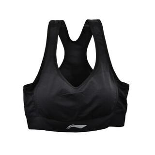LI-NING 李宁 瑜伽服跑步健身运动文胸内衣 AUBN124-1 黑色 L码(B80)码