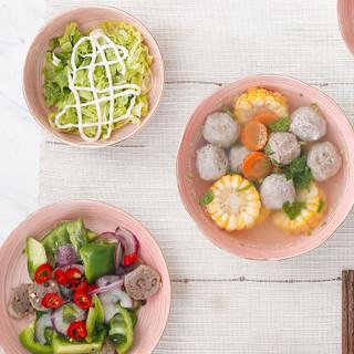 樱之歌 陶瓷碗碟盘餐具套装日式釉下彩礼盒包装 20头缤纷粉