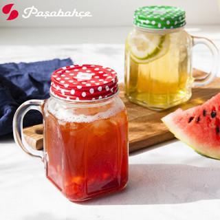 Pasabahce 帕莎帕琦 80388 无铅玻璃杯 450ml 红色