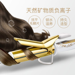 CREATE ION 黄金系列一代32mm 卷发棒 日本卷发器 24k金防烫负离子宫村浩气进口烫发棒