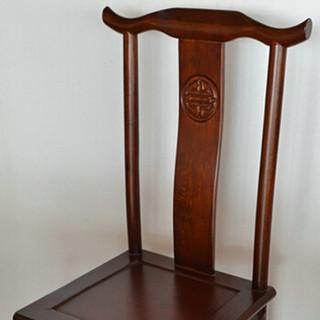 好事达易美 定制餐椅实木椅子 中式实木餐椅 复古靠背家用餐椅两个装 ZQ004