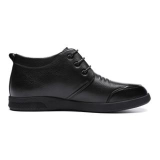 RED DRAGONFLY 红蜻蜓 男士商务休闲保暖高帮棉皮鞋  WTD80991/92 黑色 42