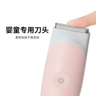 gb好孩子 婴儿理发器 低噪防水充电宝宝剃发器 电推剪发器 (简约款系列) 嫩粉