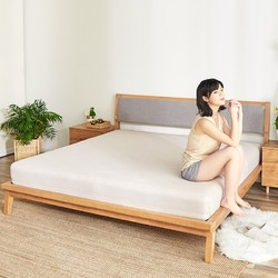 移动专享、历史低价:小米 8H Tree YM1 优雅实木床 150*200cm 1899元包邮_小米有品优惠_优惠购