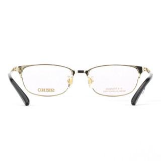SEIKO精工 眼镜框男款全框纯钛商务眼镜架近视配镜光学镜架HC1017 C90 54mm 亮深褐色
