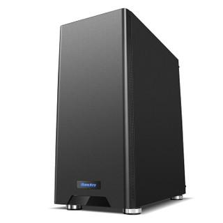 航嘉(Huntkey)GS500C黑色机箱(侧透/支持ATX主板/宽体游戏电脑机箱/支持长显卡/黑化背线/烫金脚垫)