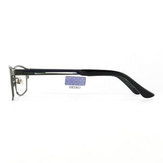 SEIKO精工 眼镜框男款全框纯钛商务眼镜架近视配镜光学镜架HC1009 C177 56mm 哑灰色