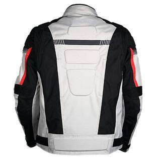 MOTOBOY摩托车骑行服套装防水四季防摔保暖拉力服反光赛车夹克款 J07 灰色XL